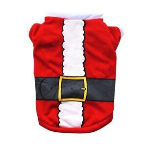 Pet Christmas Santa Wear Dog Cat Clothes Autumn for Small Dog Vest Pet Clothing