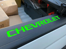 Lime Green Bed Rail Cap Vinyl Decal Inserts For 2014-2018 Silverado New USA