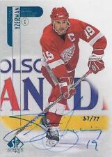 Steve Yzerman RED WINGS 1999-00 SP Authentic BUYBACK AUTOGRAPH 57/77