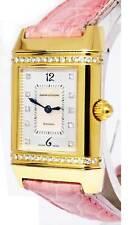Jaeger LeCoultre Reverso 18k Yellow Gold & Diamond Ladies Quartz Watch 265.1.08