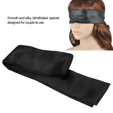 Adult Blindfold Silky Black Blindfold Eye Patch Eye Patch Adult Games Toys NEW