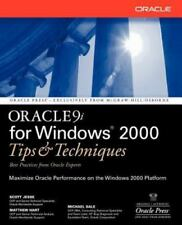 Oracle 9i for Windows 2000 Tips and Techniques by Michael Sale, Matthew Hart...