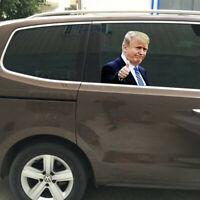 Trump Presidential Election Car Sticker Passenger Side Window Left