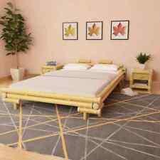 vidaXL Lit en Bambou 140x200 cm Naturel Chambre à Coucher Cadre Lit Double