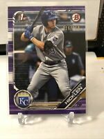 2019 Bowman Brewer Hicklen Purple BP72 Royals 26/250