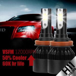 2X H11 H9 LED Headlight Bulbs 200W 20000LM Led Fog Light Lamp Replace HID 6000k