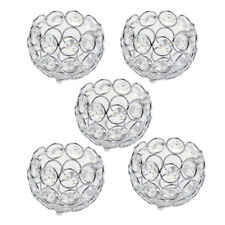 5x Crystal Table Tea Light Votive Candle Holder 3 Inch Wedding Party Favor
