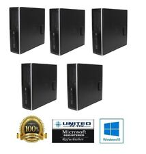Lot Of 5 HP Desktop Computers Core i5 3.1Ghz 8GB RAM 500GB WIFI Windows 10 64BIT