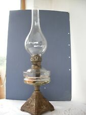 Oil Lamp Vintage with ship decoration of cast base lovely display piece
