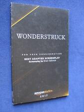 WONDERSTRUCK Script by BRIAN SELZNICK - 1st Appearance Book Form