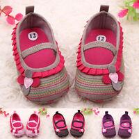AU_ Infant Baby Girl Flower Shoes Crib Prewalker Newborn To 18 Months Babyshoes