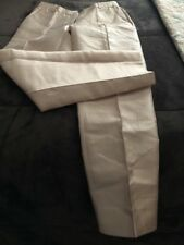 J. CREW COLLECTION Sz 0 Cafe Capri Pintucked Shantung Silk Ankle Trouser Pants