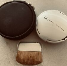 NWOB i.d. Bare Escentuals Refillable Mirrored Compact With Brush & Storage Case