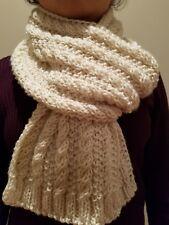 hand-knitted Deborah Norville premier scarf(light cream)