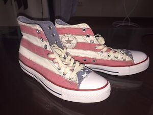 CONVERSE BRAND NEW HIGH TOPS UNISEX LIMITED EDITION USA FLAG SNEAKERS!!! CLASSIC