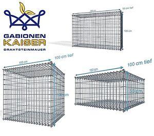 Steck Gabionen, Maschenweite 5x10, 4,5 mm Drahtstärke ➤ Gabionen Markenware
