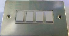 Volex Polished Chrome 4 White Light Switch Flat 4gang 66931 BNIB