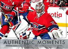 016-17 SP Authentic Authentic Moments #110 Carey Price Canadiens