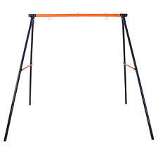 Heavy Duty Rustless Swing Set Frame Standing Yard Lawn Gift to Kids Max 220Lbs