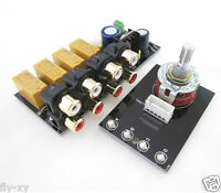 NEW 4-channel stereo audio signals select board + RCA Block