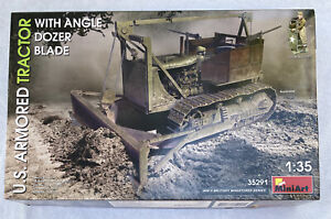 MiniArt 35291 1:35 US Armored Tractor with Angled Dozer Blade Plastic Model Kit