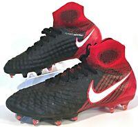 Nike JR Magista Obra II FG Red/Black Kids Soccer Cleats Size 5 ( 844410-061 )