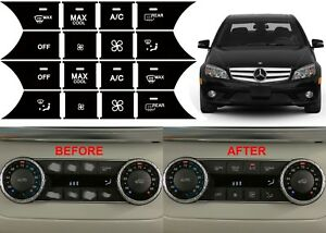 Climate Control Button Repair Stickers 2008-2014 Mercedes Benz W204 C300 C350