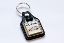 Toyota A70 Supra Keyring - Leatherette & Chrome Retro Classic Car Auto Keytag