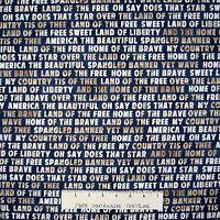 Patriotic Fabric - 4th on the Farm Words Beige Blue - Robert Kaufman YARD