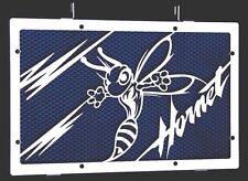 "cache / Grille de radiateur inox poli 600 Hornet 07>14 ""Frelon V2"" + grill.bleu"