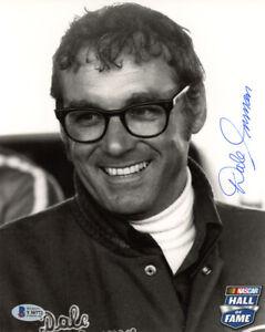 DALE INMAN SIGNED AUTOGRAPHED 8x10 PHOTO RICHARD PETTY NASCAR LEGEND BECKETT BAS