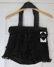 h.NAOTO Blood Gothic Lolita Black Lace Hand Bag Purse New with Tags