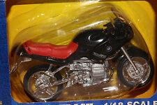 2000 MAISTO  1/18 SCALE BMW R1100RS MOTORCYCLE, BLACK, BOXED
