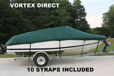 NEW VORTEX HEAVY DUTY FISHING/SKI/RUNABOUT/BOAT COVER  26 - 28 FT GREEN