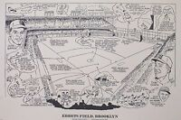 Ebbets Field Brooklyn NY 16x20 Sporting News Poster Lithograph *READY TO FRAME*