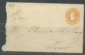 COSTA RICA LIMON 4/1/1911 5C POSTAL STATIONERY ENVELOPE INTRACITY AS SHOWN