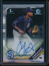 Cj Abrams Auto 1st 2019 Bowman Chrome Draft Autograph Padres Rookie Card Rc