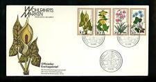 Postal History Germany Fdc #B553-B556 plants woodland flowers 1978