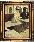 Degas In a Cafe 1873 Wood Framed Canvas Print Repro 12x16