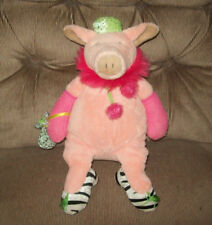 Manhattan Toy TIPPY TOES Pink Pig Hot Pink Boa Zebra Shoes Glitter Hat Purse