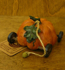 Boyds Tug Along #654238 Pumpkin Express Pull Toy, MIB new from our Retail Store