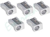 5 x Quality Single Hole Metal Pencil Sharpeners - Same Day Dispatch
