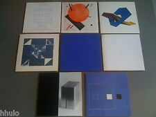 lot 8 carton Invitation Art concret construit Abstraction Galerie Victor Sfez