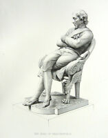PRIME MINISTER BENJAMIN DISRAELI ~ Antique Old 1882 Portrait Art Print Engraving