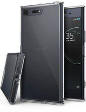 Xperia XZ Premium Case, Ringke [FUSION] Crystal PC Back TPU Bumper Raised Bezel