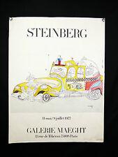 Saül STEINBERG (1914-1999) né Roumanie Romania magazine le New Yorker / POSTER