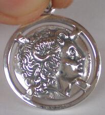 Alexander The Great Macedonia King Lysimachos Silver Coin Pendant
