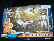 Power Rangers Dino Thunder White Hovercraft Cycle Figure and Vehicle New 2004
