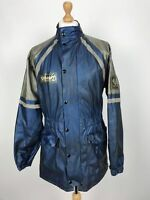 Vintage Belstaff PVC Motorcycle Jacket Large L Blue