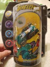 SCORPIODRIFT Screechers Wild  Green Toy 360 Flip Vehicle & Disks NIB